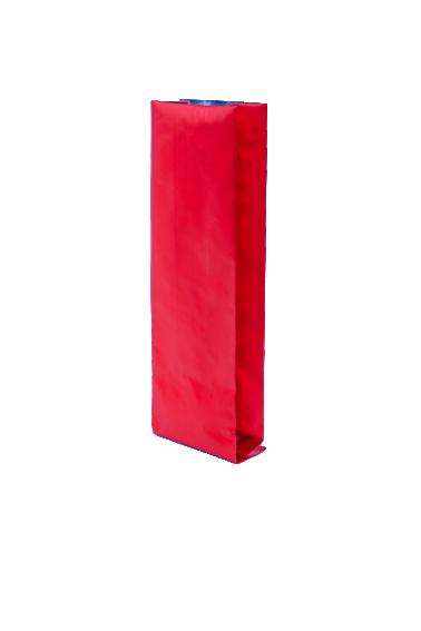 Красный пакет с Центральным швом с клапаном, замок Zip-Lock, кофейный 500 гр. (90*320 мм.) - 1