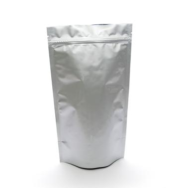 Серебристый Дой-пак с клапаном, замок Zip-Lock, кофейный 3 кг. (320*500 мм.) - 1
