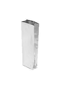 Серебристый пакет с Центральным швом, Клапан, кофейный 250 гр. (80*250 мм.)