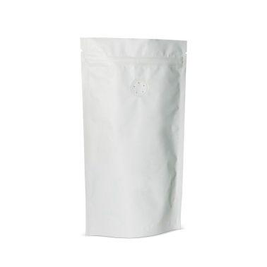 Белый Дой-пак с замком Zip-Lock, 1 кг. (210*380 мм.) - 1