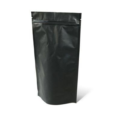 Черный Дой-пак с клапаном, замок Zip-Lock, кофейный 1 кг. (210*380 мм.) - 1
