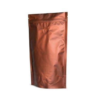Коричневый Дой-пак с клапаном, замок Zip-Lock, кофейный 100 гр. (130*200 мм.) - 1