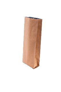 Крафт бурый пакет с Центральным швом, Клапан, кофейный 500 гр. (90*320 мм.)