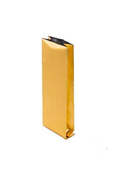 Золотой пакет с Центральным швом, Клапан, кофейный 1 кг. (135*360 мм.) - 1