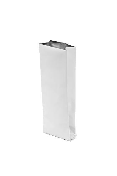 Белый пакет с Центральным швом, Клапан, кофейный 1 кг. (135*360 мм.) - 1