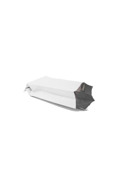 Белый пакет с Центральным швом, Клапан, кофейный 1 кг. (135*360 мм.) - 2
