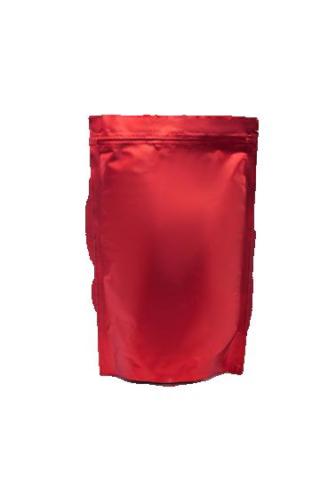 Красный Дой-пак с клапаном, замок Zip-Lock, кофейный 250 гр. (140*240 мм.) - 1