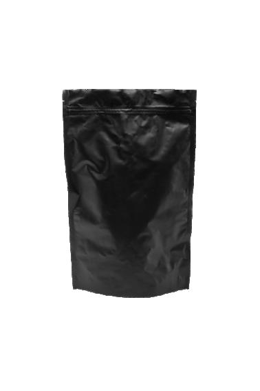 Черный Дой-пак с клапаном, замок Zip-Lock, кофейный 500 гр. (180*280 мм.) - 1