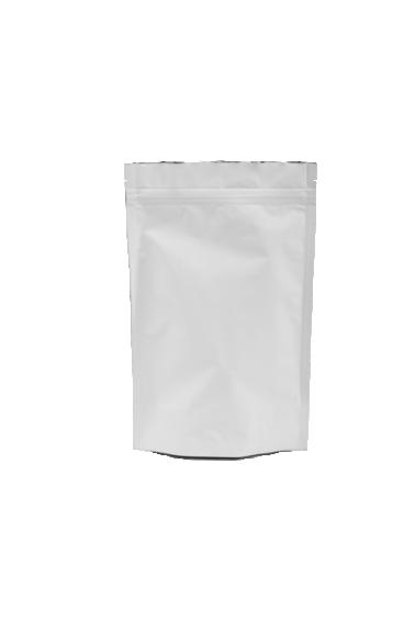 Белый Дой-пак с клапаном, замок Zip-Lock, кофейный 500 гр. (180*280 мм.) - 1