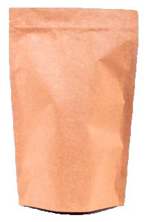Крафт пакет Дой-пак с замком Zip-Lock, 100 гр. (130*200 мм.)