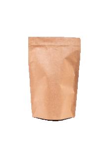 Крафт пакет Дой-пак с замком Zip-Lock, 500 гр. (180*280 мм.)