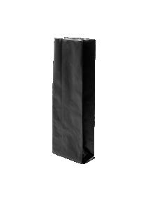 Черный пакет с Центральным швом, Клапан, кофейный 500 гр. (90*320 мм.)